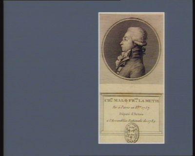 Ch.es Malo Fr.ois Lameth né à Paris en 8.bre 1757 député d'Artois à l'Assemblée nationale de 1789 : [estampe]
