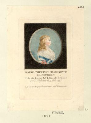 Marie Therese Charlotte de Bourbon fille de Louis XVI, Roi de France, née à Versailles le 19 Déc 1778 : [estampe]