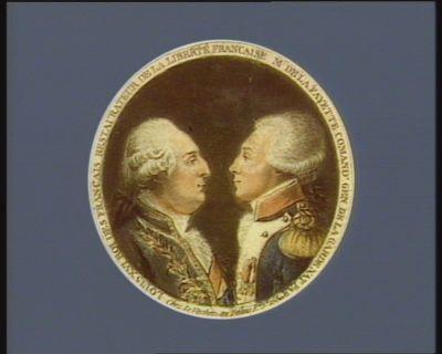 Louis XVI Roi des Français restaurateur de la liberté française M. de La Fayette comand.t gen. de la Garde nat. par.ne : [estampe]