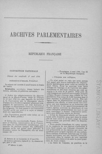Tome 65 : Du 17 mai au 2 juin 1793 - page ..
