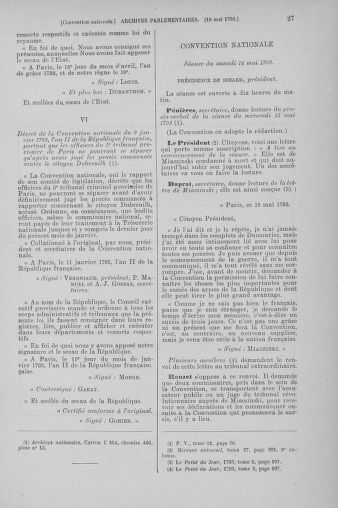 Tome 65 : Du 17 mai au 2 juin 1793 - page 27