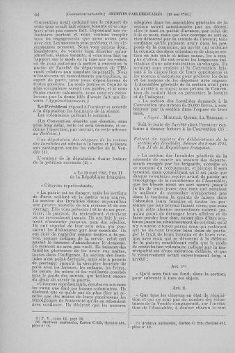 Tome 65 : Du 17 mai au 2 juin 1793 - page 62
