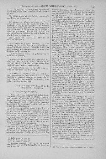 Tome 65 : Du 17 mai au 2 juin 1793 - page 143