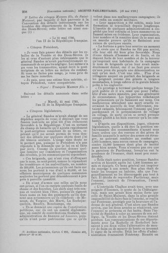 Tome 65 : Du 17 mai au 2 juin 1793 - page 208