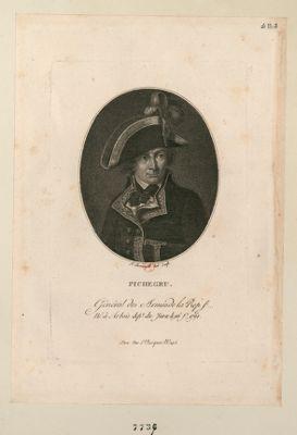 Pichegru général des armées de la Rep. f. né à Arbois dep.t du Jura le 16 f.r 1761 sc. : [estampe]