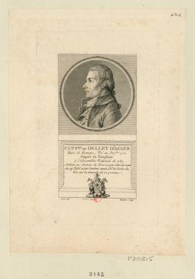 Cl.de P.re de Delley d'Agier maire de Romans, né en dec.bre 1750, député du Dauphiné à l'Assemblée nationale de 1789. .. : [estampe]