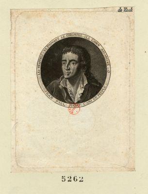 Jean Paul Marat l'ami du peuple. Les traitres ne pouvant le corompre ils l'ont assassiné [estampe]