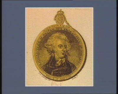 Fredericus pr. m. Britan. dux eborac. episcop. Osnaburg, natus d. 16 aug. 1763, celebrat nuptiae d. 29 sept. 1791 : [estampe]