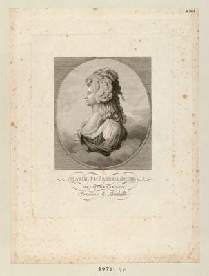 Marie-Thérèse Louise de Savoie Carignan princesse de Lamballe [estampe]