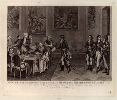 Ordine del Direttorio esecutivo di Parigi presentato a S.S. Pio VI dal general francese [estampe]