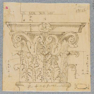 Pantheon, pronao e capitello di una colonna