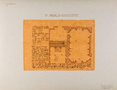 Palatino, Orti Farnesiani, pianta di un corpo di fabbrica