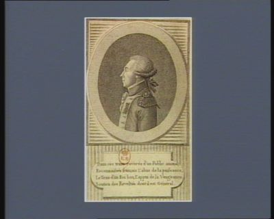 Dans ces traits reverés d'un public animal reconnaissés français l'abus de la puissance, le tiran d'un Roi bon, l'appui de la vengeance soutien des revoltés dont il est général [estampe]