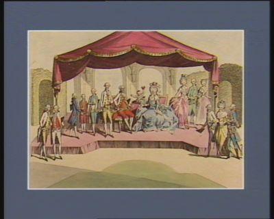 Leopold II im Schoosse seiner Familie zwar zieret Heldengeist die Erdengötter sehr, doch macht ein Vaterherz sie liebenswürdiger : [estampe]