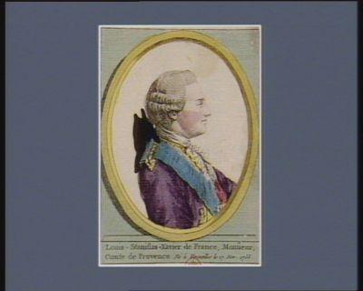 Louis-Stanislas-Xavier de France, Monsieur, comte de Provence né à Versailles le 17 nov. 1755 [estampe]