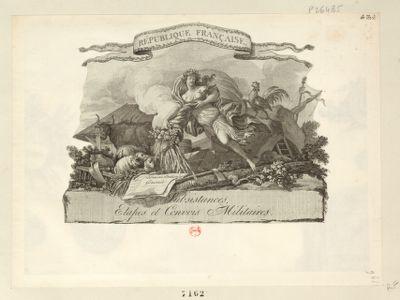 République française subsistances, etapes et convois militaires : [estampe]