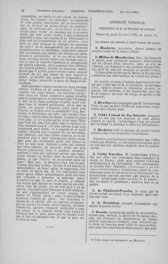 Tome 13 : Du 14 au 20 avril 1790 - page 44