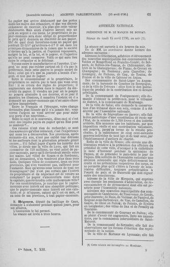 Tome 13 : Du 14 au 20 avril 1790 - page 65