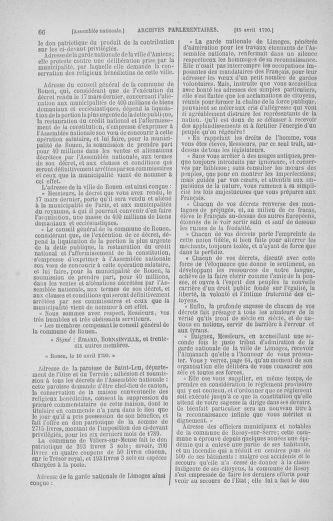 Tome 13 : Du 14 au 20 avril 1790 - page 66