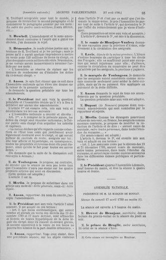 Tome 13 : Du 14 au 20 avril 1790 - page 85