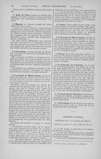 Tome 13 : Du 14 au 20 avril 1790 - page 92