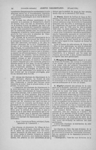 Tome 13 : Du 14 au 20 avril 1790 - page 94