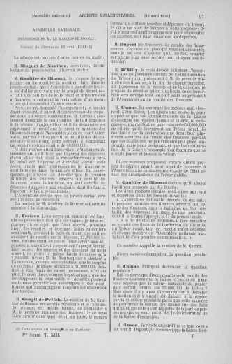 Tome 13 : Du 14 au 20 avril 1790 - page 97