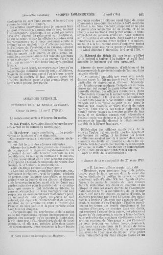 Tome 13 : Du 14 au 20 avril 1790 - page 103