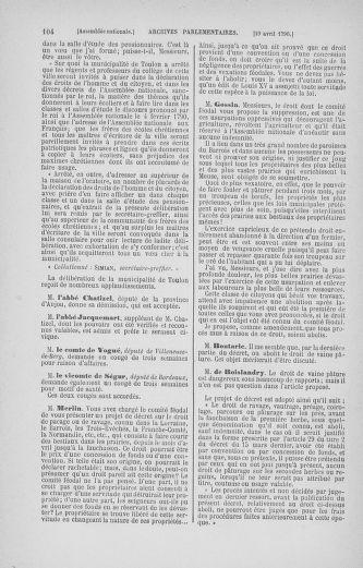 Tome 13 : Du 14 au 20 avril 1790 - page 104