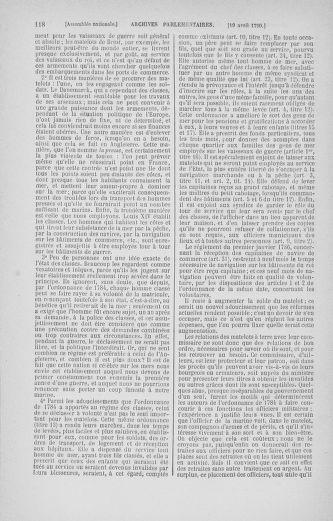 Tome 13 : Du 14 au 20 avril 1790 - page 118