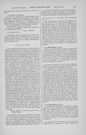 Tome 13 : Du 14 au 20 avril 1790 - page 153