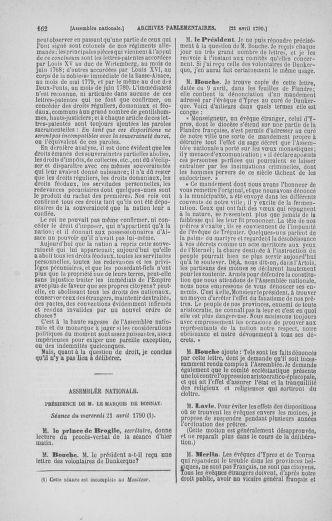 Tome 13 : Du 14 au 20 avril 1790 - page 162