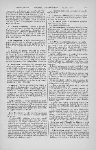 Tome 13 : Du 14 au 20 avril 1790 - page 163