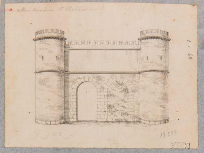 Porta Portuense, prospetto dell'antica Porta Onoriana demolita da Urbano VIII