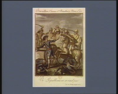 Baraillier, canonier 5.eme bataillon de Rhône et Loire un républicain ne se rend pas. Le 10 août 1793 v.s. : [estampe]