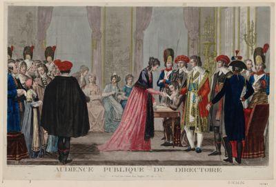 Audience publique du Directoire [estampe]