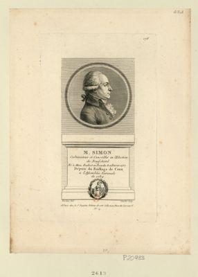 M. Simon cultivateur et conseiller en l'election de Neufchatel né à Mons Boubert en Picardie le 11 fevrier 1757 député du baillage de Caux a l'Assemblée nationale de 1789 : [estampe]