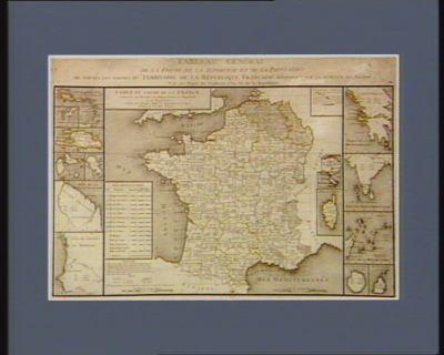 Tableau général de la figure, de la superficie et de la population, de toutes les parties du territoire de la République française répandues sur la surface du globe : [estampe]