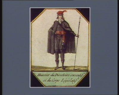 Huissier du Directoire executif et du Corps legislatif [estampe]