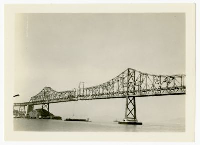 31. Cantilever span Bay Bridge c. April 1936 Taken shortly before the center gap was closed
