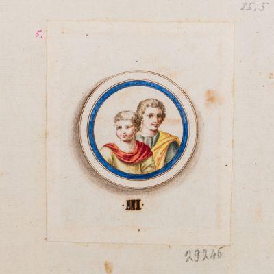 Medaglione con ritratto di due fanciulli, Terme di Tito