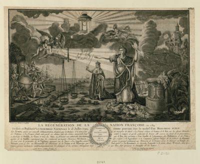 La  Regeneration de la nation française en 1789 dédiée et présentée à l'Assemblée nationale le 13 juillet 1790 comme pouvant être le modèle d'un monument puplic [sic] : [estampe]