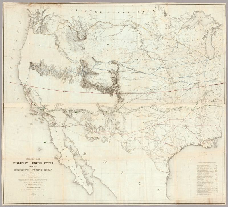 Maps of the Railroads | Transcontinental Railroad ...