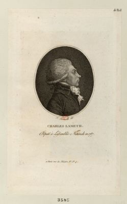 Charles Lameth député <em>à</em> l'Assemblée nationale en 1787 : [estampe]