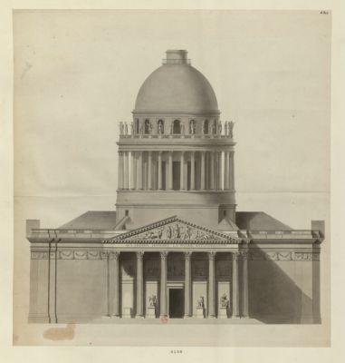 [Façade de l'église Sainte-Geneviève ou Panthéon français] [dessin]
