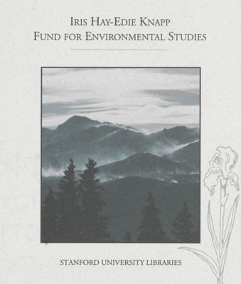 Iris Hay-Edie Knapp Fund for Environmental Studies