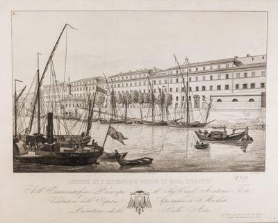 Porto di Ripa Grande, veduta generale di fronte