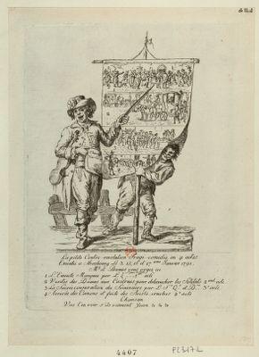 La  petite Contre-revolution Tragi-comedie en 4 actes Executée a Strasbourg Le 3, 15, 16 et 17.ieme Janvier 1791 M.r et Dames vous voyez ici 1 L'Emeute Manquée... : [estampe]