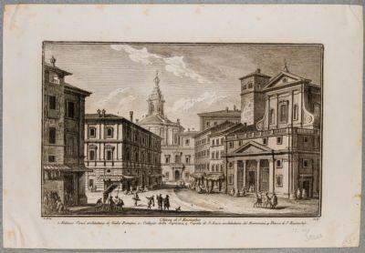 Palazzo della Sapienza. Prospetto visto dalla piazza di S. Eustachio