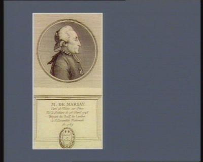 M. de Marsay curé de Nüeis sur Dive né à Poitiers le 26 avril 1743 député du baill.e de Loudun à l'Assemblée nationale de 1789 : [estampe]